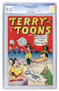Golden Age (1938-1955):Funny Animal, Terry-Toons Comics #38 (Timely, 1945) CGC NM- 9.2 Off-white towhite pages....