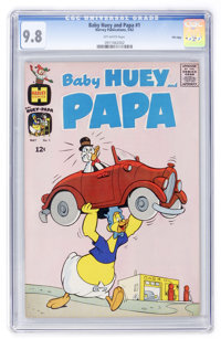 Baby Huey and Papa #1 File Copy (Harvey, 1962) CGC NM/MT 9.8 Off-white pages