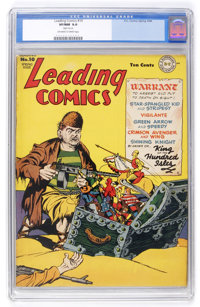 Leading Comics #10 (DC, 1944) CGC VF/NM 9.0 Off-white to white pages