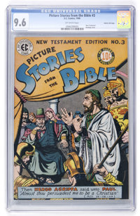 Picture Stories from the Bible New Testament Edition #3 Gaines File pedigree 11/12 (EC, 1946) CGC NM+ 9.6 Off-white page...
