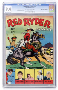 Red Ryder Comics #12 Mile High pedigree (Dell, 1943) CGC NM 9.4 Off-white to white pages