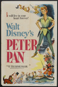 "Movie Posters:Animated, Peter Pan (RKO, 1953). One Sheet (27"" X 41""). Animated.. ..."