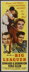 "Movie Posters:Sports, Big Leaguer (MGM, 1953). Insert (14"" X 36""). Sports.. ..."