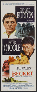 "Movie Posters:Drama, Becket (Paramount, 1964). Insert (14"" X 36""). Drama.. ..."