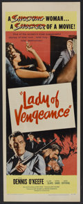 "Movie Posters:Drama, Lady of Vengeance (United Artists, 1957). Insert (14"" X 36""). Drama.. ..."