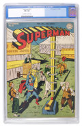Golden Age (1938-1955):Superhero, Superman #31 (DC, 1944) CGC VF+ 8.5 Off-white to white pages....