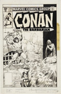 Original Comic Art:Covers, John Buscema Conan the Barbarian #119 Cover Original Art(Marvel, 1970)....