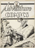 Original Comic Art:Covers, Fred Guardineer Adventure Comics #45 Cover with a SandmanCameo Portrait Original Art (DC, 1939)....
