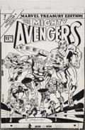 Original Comic Art:Covers, Jack Kirby and Frank Giacoia Marvel Treasury Edition #7 TheMighty Avengers Cover Original Art (Marvel, 1974)....