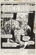Original Comic Art:Splash Pages, Bernie Wrightson Swamp Thing #3 Splash page 1 Original Art(DC, 1973)....