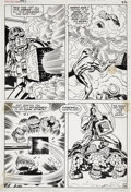 Original Comic Art:Panel Pages, Jack Kirby and Frank Giacoia Fantastic Four #93 Thing page14 Original Art (Marvel, 1969)....
