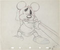 Animation Art:Production Drawing, Mickey's Parrot Animation Production Drawing Original Art(Disney, 1938)....