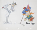 Animation Art:Production Drawing, Virgil Ross Bugs Bunny and McCrory Drawing Original Art(Warner Bros., undated)....