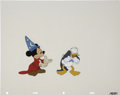 Animation Art:Production Cel, Mickey Mouse and Donald Duck 1988 Academy Awards Animation Production Cel Original Art Group of 2 (1988).... (Total: 2 Items)