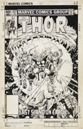 Original Comic Art:Covers, Alan Kupperberg and Alan Weiss Thor #327 Cover Original Art(Marvel, 1983)....