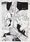 Original Comic Art:Covers, Michael Kaluta Aquaman #71 Cover Original Art (DC, 2000)....