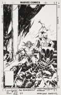 Original Comic Art:Covers, Gary Kwapisz Conan the Barbarian #221 Cover Original Art(Marvel, 1989)....