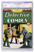 Golden Age (1938-1955):Superhero, Detective Comics #28 (DC, 1939) CGC Apparent VF/NM 9.0 Slight (P) Off-white to white pages....