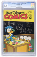 Golden Age (1938-1955):Cartoon Character, Walt Disney's Comics and Stories #61 (Dell, 1945) CGC NM 9.4Off-white pages....