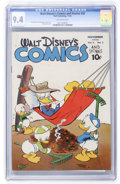 Golden Age (1938-1955):Cartoon Character, Walt Disney's Comics and Stories #50 (Dell, 1944) CGC NM 9.4 Off-white pages....