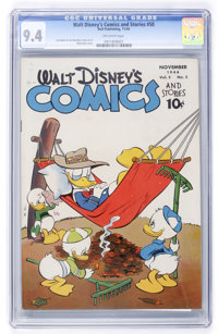 Walt Disney's Comics and Stories #50 (Dell, 1944) CGC NM 9.4 Off-white pages