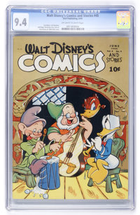 Walt Disney's Comics and Stories #45 (Dell, 1944) CGC NM 9.4 Off-white to white pages