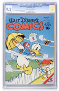 Golden Age (1938-1955):Cartoon Character, Walt Disney's Comics and Stories #42 (Dell, 1944) CGC NM- 9.2 Cream to off-white pages....