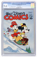 Golden Age (1938-1955):Cartoon Character, Walt Disney's Comics and Stories #41 (Dell, 1944) CGC NM+ 9.6 Off-white pages....