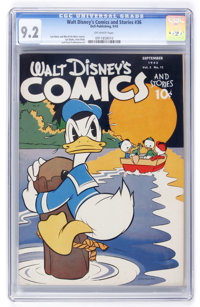 Walt Disney's Comics and Stories #36 (Dell, 1943) CGC NM- 9.2 Off-white pages