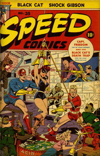 Speed Comics #29 and #31-40 Bound Volumes (Harvey, 1943-45)
