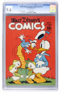 Golden Age (1938-1955):Cartoon Character, Walt Disney's Comics and Stories #27 (Dell, 1942) CGC NM+ 9.6 Off-white pages....