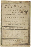 "Books:Pamphlets & Tracts, [Boston Massacre Pamphlet] William Tudor: ""An Oration, DeliveredMarch 5th, 1779, at the Request of the Inhabitants of the Tow..."