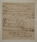 "Autographs:Statesmen, [Declaration Signer] Richard Henry Lee Autograph Document Signed.One page, 6.25"" x 7.25"", inlaid to 7.25"" x 8.25"". [Virgini..."