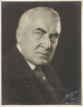 "Autographs:U.S. Presidents, Warren G. Harding Photograph Signed as president, 11"" x 14"". Thelarge and dramatic photograph, taken by an Indianapolis..."