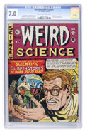Golden Age (1938-1955):Science Fiction, Weird Science #12 (#1) (EC, 1950) CGC FN/VF 7.0 Cream to off-whitepages....
