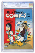Golden Age (1938-1955):Cartoon Character, Walt Disney's Comics and Stories #31 (Dell, 1943) CGC FN+ 6.5 Creamto off-white pages....