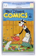 Golden Age (1938-1955):Cartoon Character, Walt Disney's Comics and Stories #8 (Dell, 1941) CGC VF- 7.5 Creamto off-white pages....