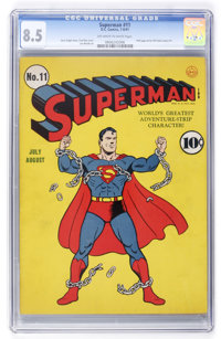 Superman #11 (DC, 1941) CGC VF+ 8.5 Off-white to white pages