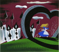 Animation Art:Production Drawing, Mary Blair Alice in Wonderland Animation Concept PaintingOriginal Art (Disney, 1951)....