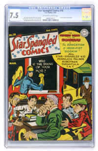 Star Spangled Comics #18 (DC, 1943) CGC VF- 7.5 Off-white to white pages