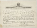 """Autographs:Military Figures, George S. Patton Signed Promotion Certificate. Partly printed DS """"G S Patton Jr."""", one page, 10.5"""" x 8"""", Camp Meade, Mar..."""