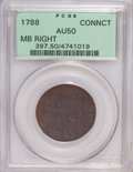 Colonials, 1788 COPPER Connecticut Copper, Mailed Bust Right AU50 PCGS....