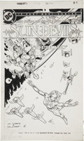 Original Comic Art:Covers, Dan Jurgens and Dick Giordano Sun Devils #7 Cover OriginalArt (DC, 1985)....