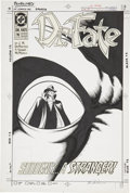 Original Comic Art:Covers, Shawn McManus Dr. Fate (Second Series) #19 Phantom StrangerCover Original Art (DC, 1990)....