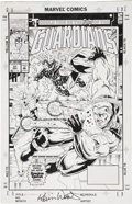 Original Comic Art:Covers, Kevin West and Steve Montano Guardians of the Galaxy #31Cover original Art (Marvel, 1992)....