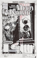 Original Comic Art:Covers, Denys Cowan Moon Knight #22 Cover Original Art (Marvel,1991)....