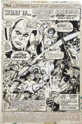 Original Comic Art:Splash Pages, George Tuska and Russ Jones What If? #5 Captain America andBucky Splash Page 1 Original Art (Marvel, 1977)....