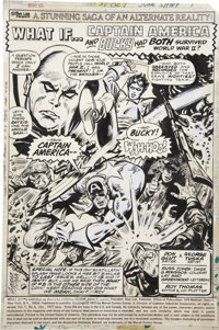 George Tuska and Russ Jones What If? #5 Captain America and Bucky Splash Page 1 Original Art (Marvel, 1977)