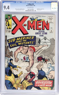 X-Men #6 (Marvel, 1964) CGC NM 9.4 Off-white pages