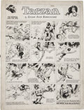 Original Comic Art:Comic Strip Art, Hal Foster Tarzan Sunday Comic Strip Original Art dated4-2-33 (United Features Syndicate, 1933)....